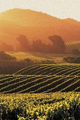 Painting - Tuscany Vineyards - 06 by Andrea Mazzocchetti