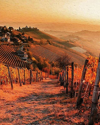 Painting - Tuscany Vineyards - 07  by Andrea Mazzocchetti