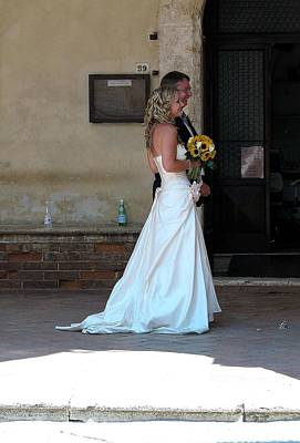 Photograph - Tuscany Wedding by Diane Height
