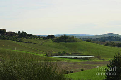 Tuscany's Countryside In Italy Art Print by DejaVu Designs