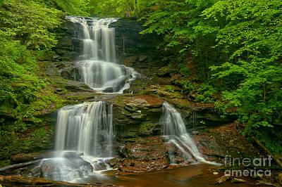 Tuscarora Falls Landscape Print by Adam Jewell