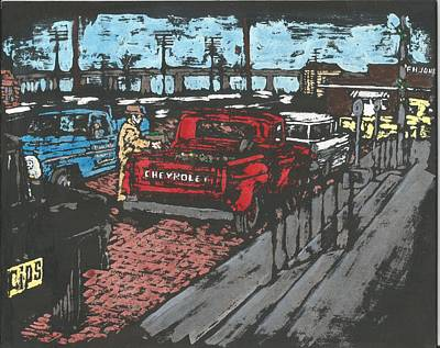 Tuscola Illinois Art Print by Dick Gallagher