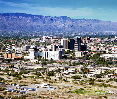 Photograph - Tuscon Arizona Skyline by Wernher Krutein