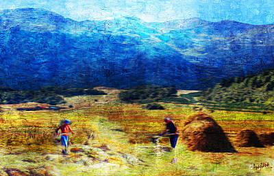 Painting - Tusheti Hay Makers I by Anastasia Savage Ealy