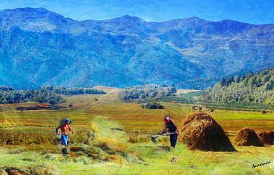 Painting - Tusheti Hay Makers II by Anastasia Savage Ealy