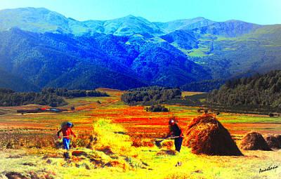 Painting - Tusheti Hay Makers IIi by Anastasia Savage Ealy