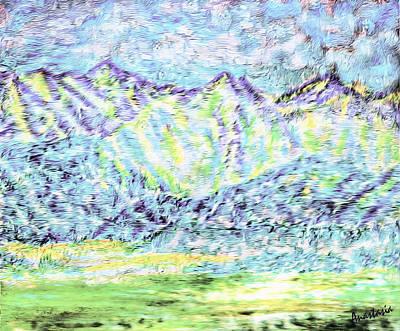Painting - Tusheti Hay Meadows Caucasus Mountains I by Anastasia Savage Ealy