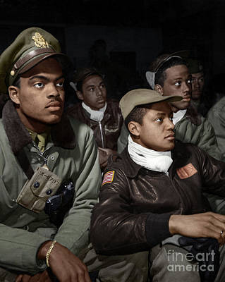 Photograph - Tuskeegee Airmen, 1945 by Granger