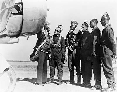 Photograph - Tuskegee Airmen, 1942 by Granger