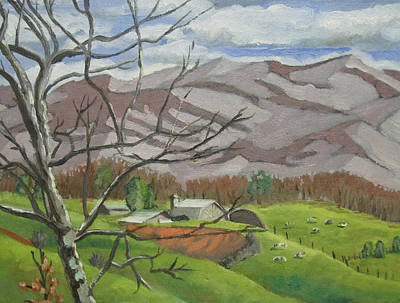 Painting - Tusquittee Range by D T LaVercombe