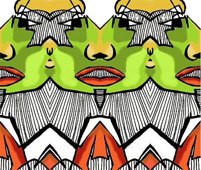 Abstracto Mixed Media - Tut 1 by Betzaida Irizarry