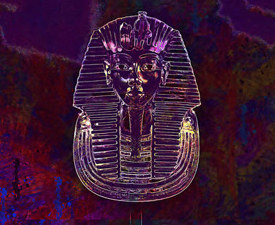 Digital Art - Tutankhamen Mask by PixBreak Art
