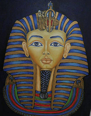 Tutankhamun Art Print by Margit Armbrust