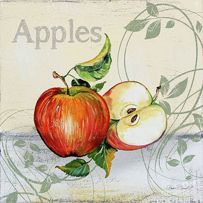 Painting - Tutti Fruiti Apples by Jean Plout