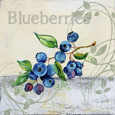 Painting - Tutti Fruiti Blueberries by Jean Plout