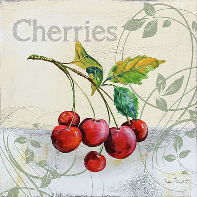 Painting - Tutti Fruiti Cherries by Jean Plout