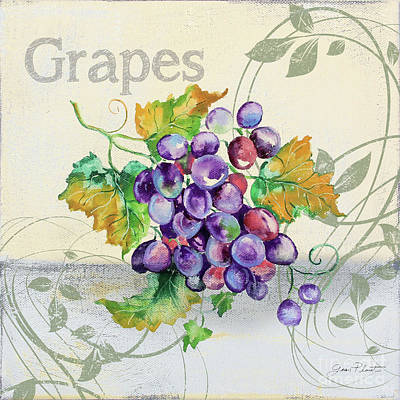 Painting - Tutti Fruiti Grapes by Jean Plout
