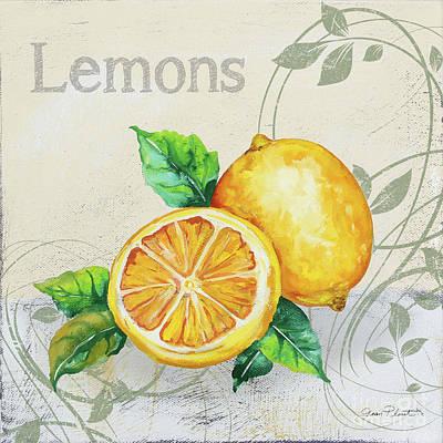 Painting - Tutti Fruiti Lemons by Jean Plout