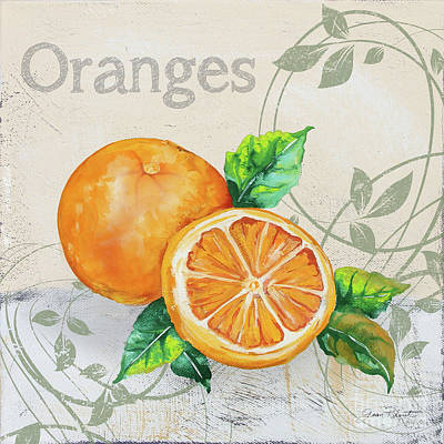 Painting - Tutti Fruiti Oranges by Jean Plout