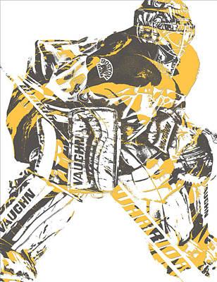Mixed Media - Tuukka Rask Boston Bruins Pixel Art 1 by Joe Hamilton