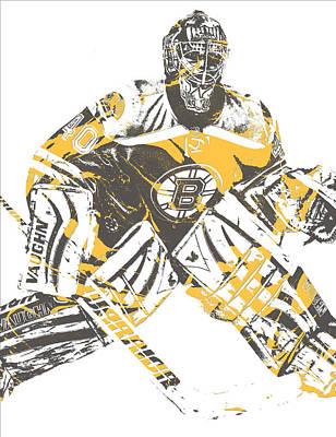 Mixed Media - Tuukka Rask Boston Bruins Pixel Art 2 by Joe Hamilton
