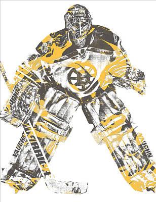 Mixed Media - Tuukka Rask Boston Bruins Pixel Art 3 by Joe Hamilton