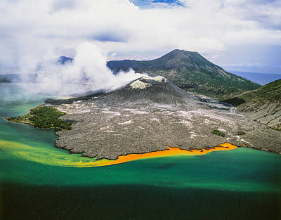 Tuvuavur Volcano  Rabaul, East New Art Print by David Kirkland