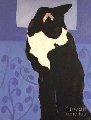Painting - Tuxedo by Barbara Tibbets