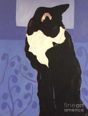 Painting - Tuxedo by Barbara Tibbets