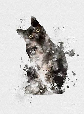Feline Mixed Media - Tuxedo by Rebecca Jenkins