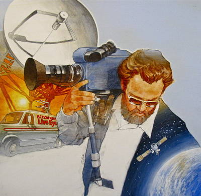 Art Print featuring the painting Tv - Mobile by Cliff Spohn