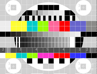 Tv Multicolor Signal Test Pattern Art Print by Aloysius Patrimonio
