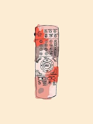 tv remote I Art Print