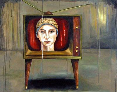 Tv Series 1 Art Print by Leah Saulnier The Painting Maniac