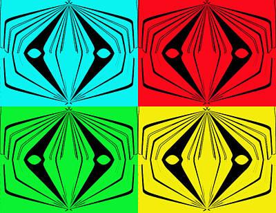 Test Pattern Digital Art - Tv Test Pattern by Marian Bell
