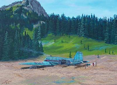 Twa Mountaintop Cabin Art Print
