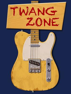 Digital Art - Twang Zone T-shirt by WB Johnston