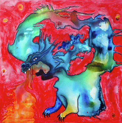 Jabberwocky Painting - Twas Brillig by Jenn Ashton