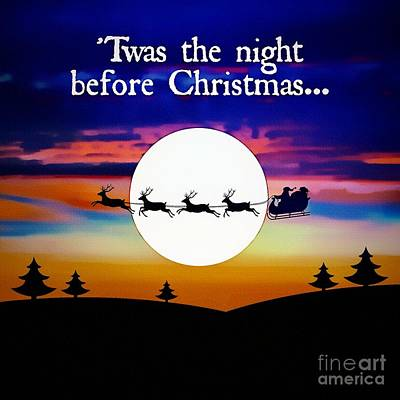 Painting - Twas The Night Before Christmas by Ian Gledhill