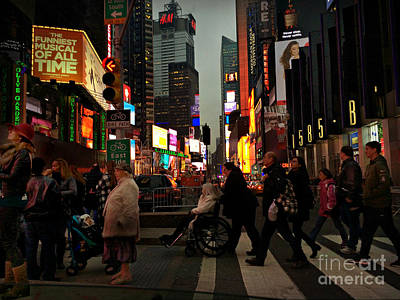 Photograph - Twas The Night Before New Years - Times Square New York by Miriam Danar