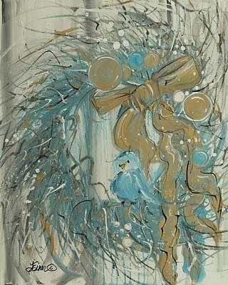 Painting - Tweet Wreath by Terri Einer