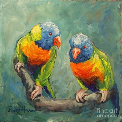 Painting - Tweeting by Phyllis Howard