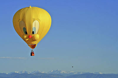 Tweety Balloon Art Print by Scott Mahon