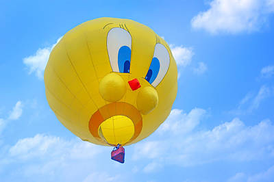 Tweety Bird - Hot Air Balloon Art Print by Nikolyn McDonald