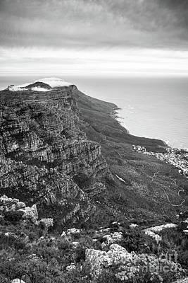 Twelve Apostles South Africa Black And White Art Print