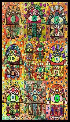 Twelve Hamsas Art Print
