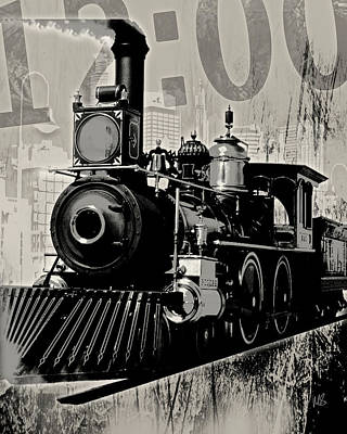 Steam Engine Mixed Media - Twelve Pm Train 2 by Melissa Smith