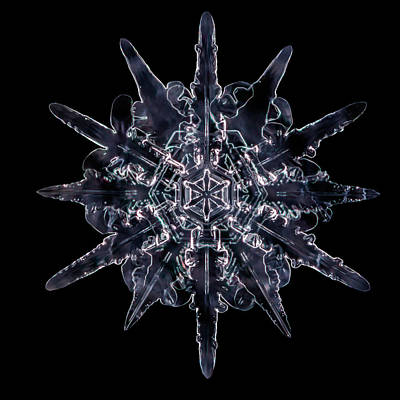 Photograph - Twelve Sided Snowflake by Brian Caldwell