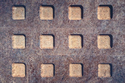 Grate Photograph - Twelve Squares by Scott Norris