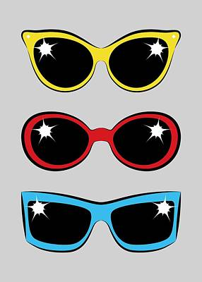 Digital Art - Twentieth Century Sunglasses by MM Anderson